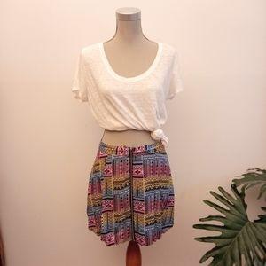 2/$20🌺 Neon aztec print skirt size XXL